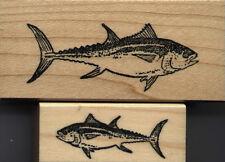 "mounted stamps  Bluefin Tuna set of 2  mounts 1 1/4"" X 2 1/2"" & 3/4"" X 1 3/4"""