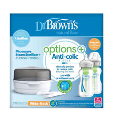 Dr Brown's Microwave Steriliser & Options+ Bottles 270ml 2Pk