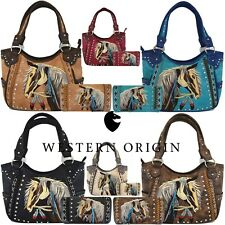 Western Horse Handbags Concealed Carry Purse Women Country Shoulder Bag / Wallet