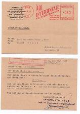 1958 AUSTRIA Cover WIEN Interunfall Commercial Postcard SLOGAN Geltner VIENNA
