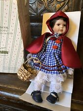 Vintage Little Red Riding Hood Porcelain Doll. In Box. Seymour Mann Limited Ed.