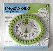 Inkadinkado Stamping Gear Oval Cling Stamps Symmetry Wheel New Spiral Frame