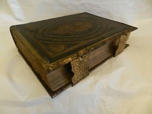 c1870 Brown's Self Interpreting Family Bible Illustrated Old New Testament