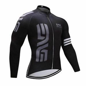 Black Breathable Cycling Jersey Bike Clothing MTB Long Sleeve Shirt Bib Pant Set
