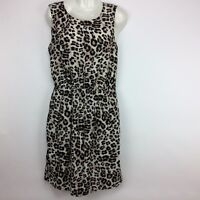 Van Heusen Studio Women's Sleeveless Elastic Waist Dress Sz. 6 Leopard Print