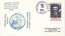 NAVAL MILITARY SHIP EVENT COVER - 1970 USS OBSERVATION ISLAND AG-154 USS SKILL M