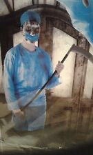 BLOODY SURGEON COSTUME Blood Zombie Nurse Doctor Surgical Halloween Fancy Dress