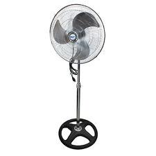 """Comfort Zone CZHVP18EX 18"""" High-Velocity 3 Speed Industrial Pedestal Fan, Black"""