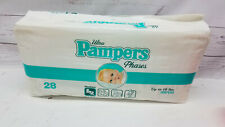 Vintage Ultra Pampers Phases Newborn Up to 10 Pounds 28 Count New in Open Bag