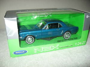 WELLY 1964 1/2 FORD MUSTANG COUPE 1:24 SCALE WELLY OPENING HOOD & DOORS
