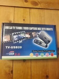 USB 2.0 TV Tuner/Video Capture Box w/Remote Control New