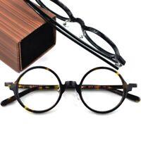 Vintage Tortoise Round Eyeglass Frames Retro Acetate Spectacles Glasses HFA542
