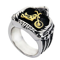Motorcycle Biker Ring Stainless Steel Eagle Embracing Chopper Punk Jewelry Men
