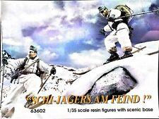 "Jaguar 1/35 Scale ""Schi-Jagers Am Feind!"" Resin Figures w/ Scenic Base 63602"