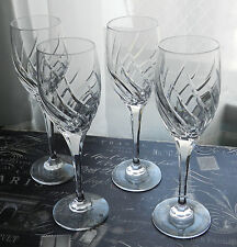 4 GORGEOUS CRYSTAL CHAMPAGNE/WINE FLUTES GLASSES!! TOASTING! WEDDING