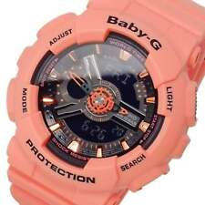 Casio Baby-G Ladies Wrist Watch BA111-4A2 BA-111-4A2 Orange Digital-Analog