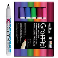 Marvy Graffiti Fabric Markers Floral Set - Floral Set