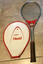 Vintage Amf Head Professional Squash Racket w/ case Silver & Red Great shape
