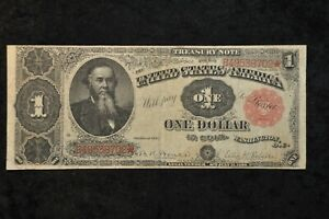 """1891 $1 """"STANTON"""" Treasury Note FR# 352 Bruce and Roberts"""