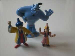 """DISNEY MATTEL  ALADDIN GENIE 4"""" ACTION FIGURE 1992 + 2 OTHERS as Seen, See Pics."""