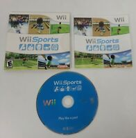 Wii Sports (Nintendo Wii, 2006) CIB Complete w/Sleeve Case & Manual