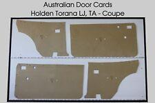 Torana LJ, TA Coupe Door Cards / Trim Panels. 2 Door Holden Torana.