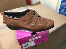 Ladies Light Brown Soft Leather Shoes Size 8