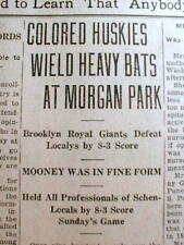 1921 VT newspaper NEGRO Professional BASEBALL Brooklyn Royal Giants v White team