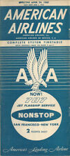 American Airlines system timetable 4/24/60 [0098]