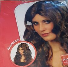 1x Adult Long Black Glamour Wig.