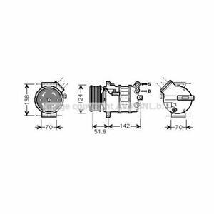 Kompressor, Klimaanlage  PRASCO  ALK112