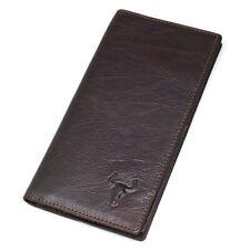 Vintage Mens Genuine Leather Long Wallet Credit Card Holder Zipper Coin Pocket
