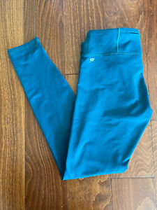 Fabletic Womens Athletic Ankle Legging Pants Dark Turquoise Size Small???
