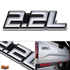 """2.2L"" Polished Metal 3D Decal Silver&Black Emblem For Isuzu/Chevrolet/BMW/Ford"