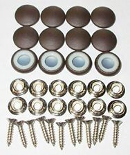 12 Dura Snap Upholstery Buttons Chocolate Brown Choice Of Size And Screws