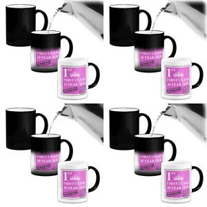 FIRST CLASS (Age) YEAR OLD - PINK...... Heat Colour Changing Mug