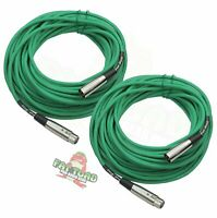 FAT TOAD XLR Microphone Cables 50Ft 2 PACK – DJ Pro Audio Studio Mic Cord Wire