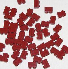 LEGO LOT OF 50 NEW 1 X 2 DARK RED MASONRY BRICKS BUILDING BLOCKS PARTS