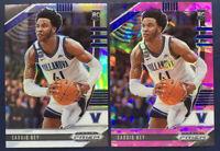 2020-21 Panini Prizm Draft Picks SADDIQ BEY RC SILVER PRIZM 2 Card Lot pink ice