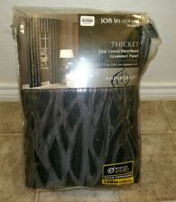 NEW Bed Bath & Beyond Black And Gray Curtain Lined Panel energy efficient