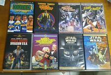 8 Sci Fi DVDs Star Crash Battle Beyond Stars Invasion USA Mad Monster Party Used