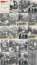 WALES v NEW ZEALAND 1905 RUGBY POSTCARD SET - 20 CARDS