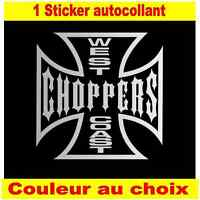 sticker autocollant west coast choppers croix de malt custom bobber