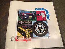 1978 1979 Renault LeCar Le Car Gordini Accessories Manual Brochure