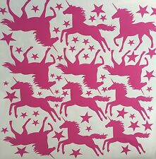 32x Unicorn Vinyl Stickers Wall Art Girls Kids Bedroom Children Birthday Party