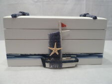 627#  Maritime Deko 1 HOLZKISTE TRUHE KISTE  groß  Schiff ca 20x12x11 cm neu