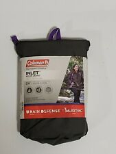 "Coleman Inlet Nylon Jacket Womens S/M Grey/Purple Rain Jacket 34-38"" Chest"