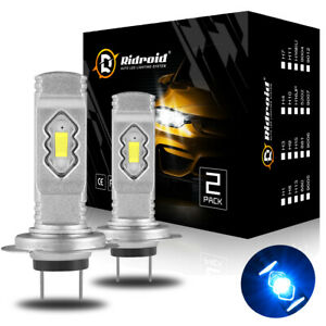 2x 8000K Ice Blue H7 LED Headlight Bulbs Conversion Kit High Beam Low Beam 100W