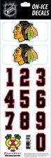 CHICAGO BLACKHAWKS NHL LICENSED ON-ICE WHITE HELMET DECAL SET