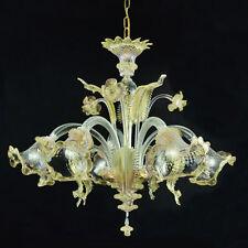 Murano chandelier Ca'Venier ceilling 5 arms crystal gold